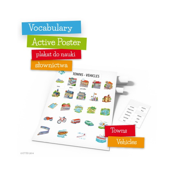 Vocabulary Active Poster Towns Vehicles