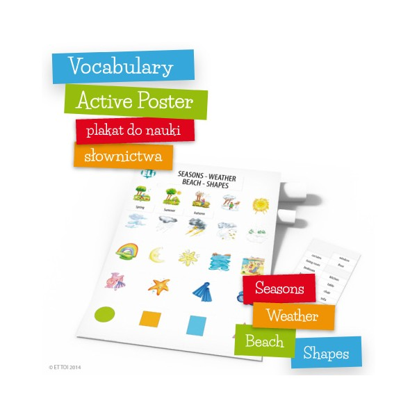 Vocabulary Active Poster Seasons Weather Beach Shapes