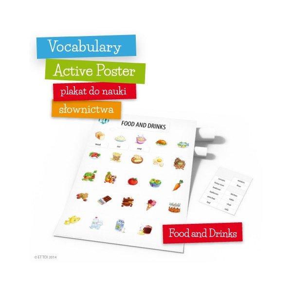 Vocabulary Active Poster Food and Drinks