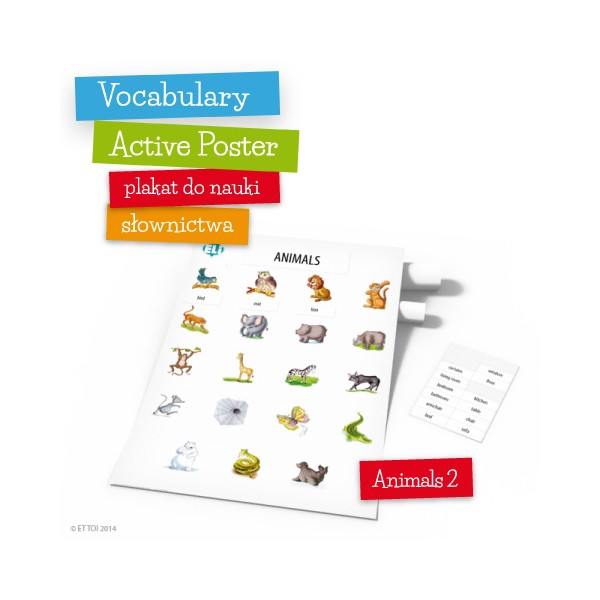 Vocabulary Active Poster Animals 2 z zawieszką