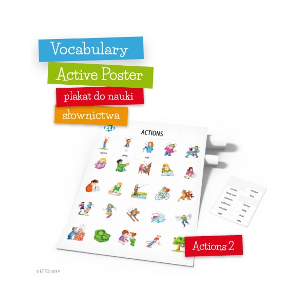 Vocabulary Active Poster Actions 2 z zawieszką